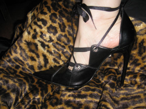 Super spiked stiletto heel corset pump shoes 10 UK7.5 39 image 3