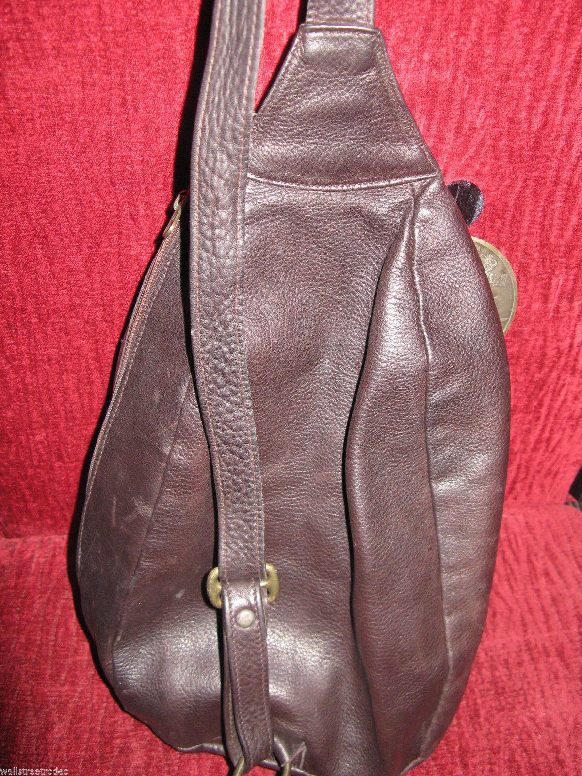 Ellington Portland  leather mini backpack rucksack sling tote handbag purse image 3