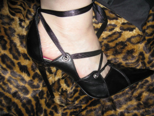 Super spiked stiletto heel corset pump shoes 10 UK7.5 39 image 4