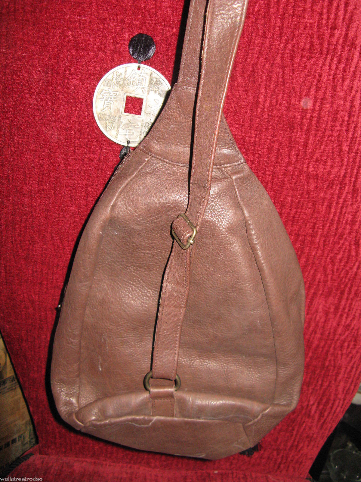 Ellington Portland leather mini backpack rucksack sling tote handbag purse as-is