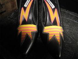 Extra-Fine Sugar punk grunge new wave lightning stiletto heels shoes 7 UK5 38 image 4