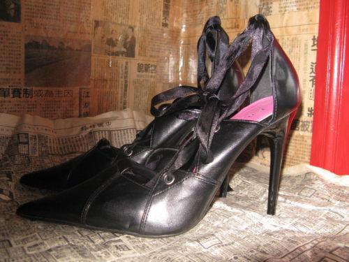 Super spiked stiletto heel corset pump shoes 10 UK7.5 39 image 7