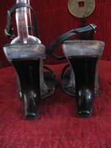 Reflections lucite rhinestone pin-up platform sandals shoes 38 8 UK5.5 VLV image 4