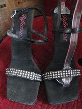 Reflections lucite rhinestone pin-up platform sandals shoes 38 8 UK5.5 VLV image 5