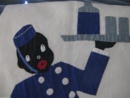 Vintage Black Americana handmade applique towel  image 2