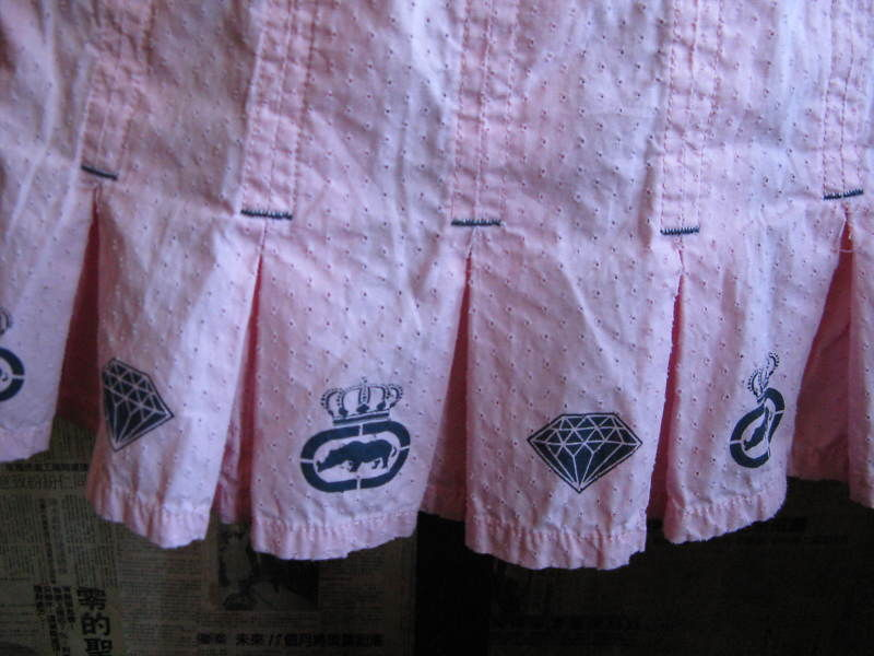 Ecko Red Lux pink school girl diamond pleated mini kilt skirt 7 image 2