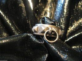 Marche' Noir of Canada sterling silver collier de chien dog collar .925 ring 6 image 2