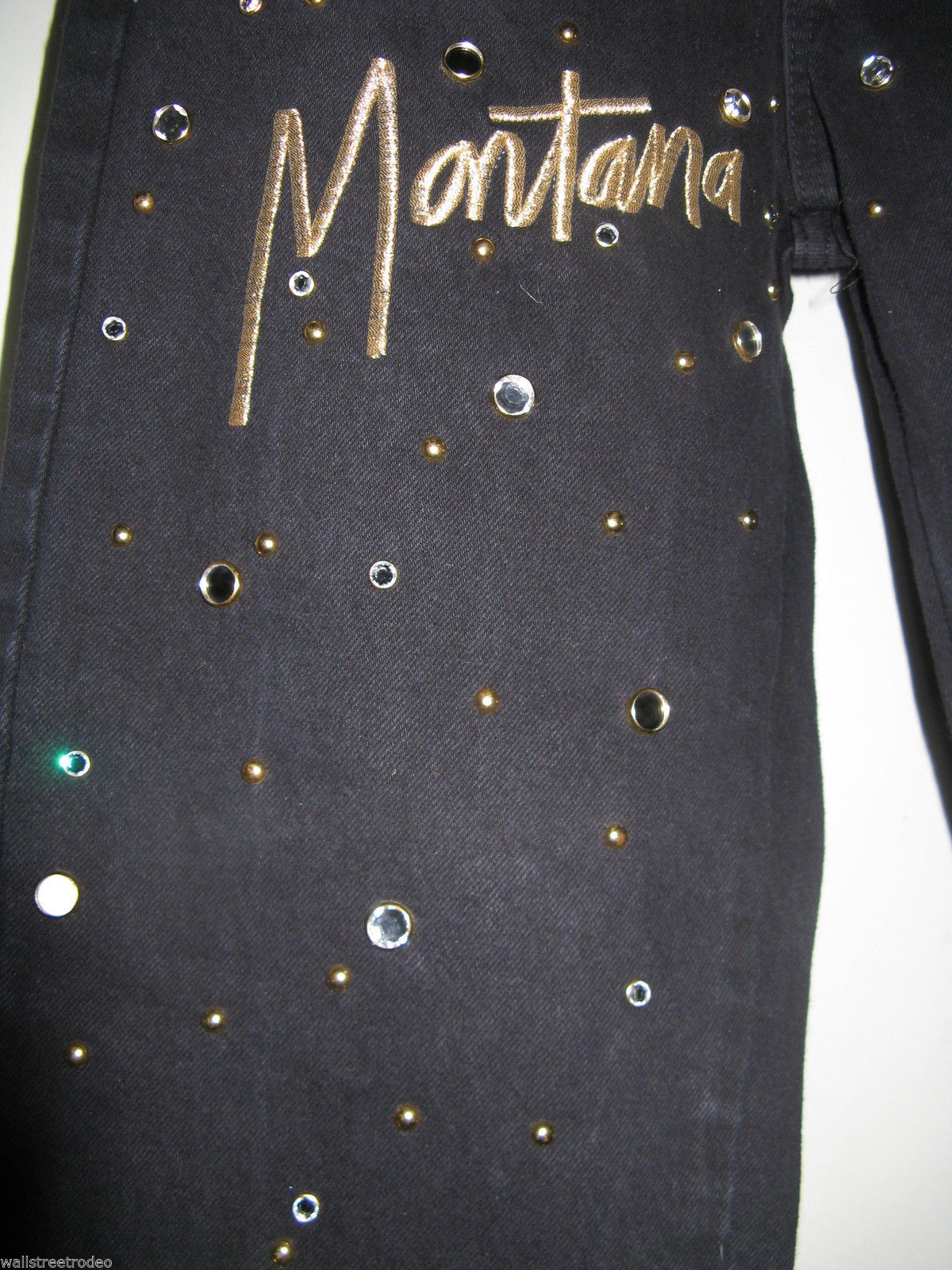 80s 1980s Tamorah Marie high waist Designer Name dropping bling jeans 30w 12