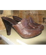 Michael Kors San Antonio platform clog mule wooden tassel shoes 6.5 UK4 ... - $53.88