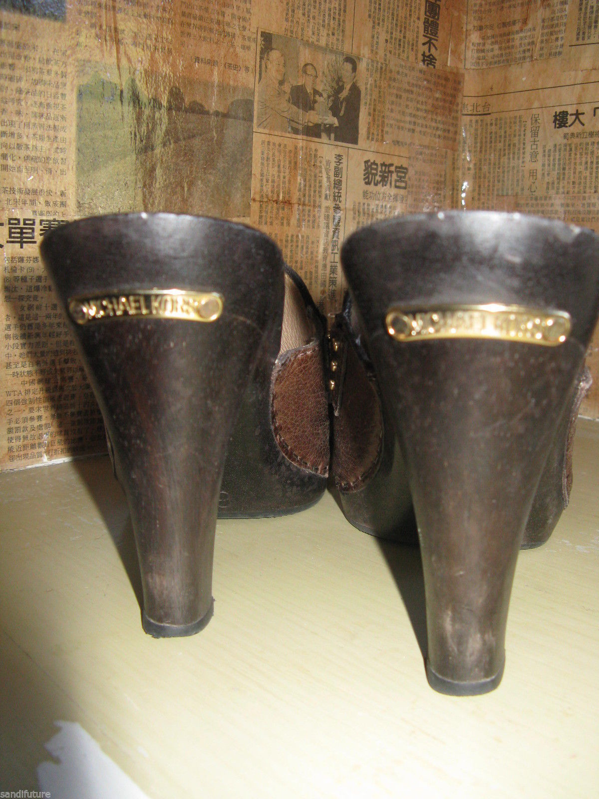 Michael Kors San Antonio platform clog mule wooden tassel shoes 6.5 UK4 36.5 image 3