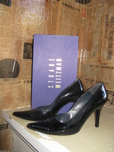 Stuart Weitzman classic stiletto Lady patent pump heels 7 UK4.5 37 VLV - $82.87