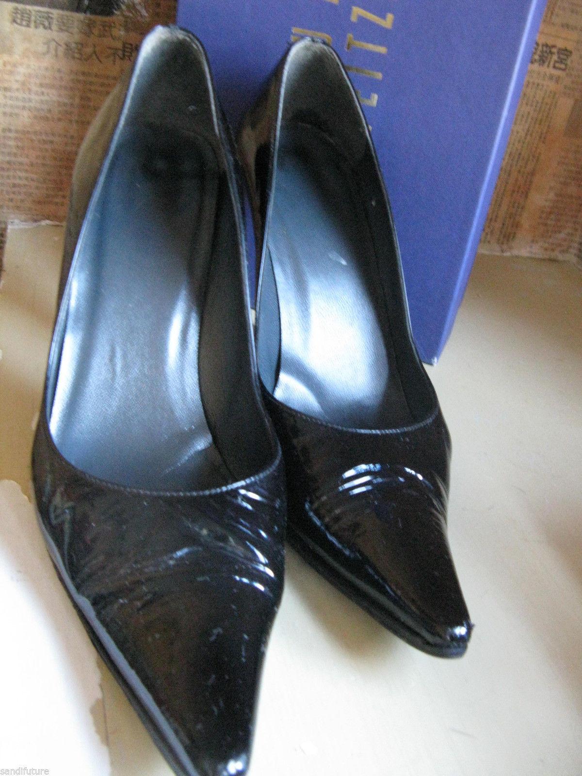 Stuart Weitzman classic stiletto Lady patent pump heels 7 UK4.5 37 VLV