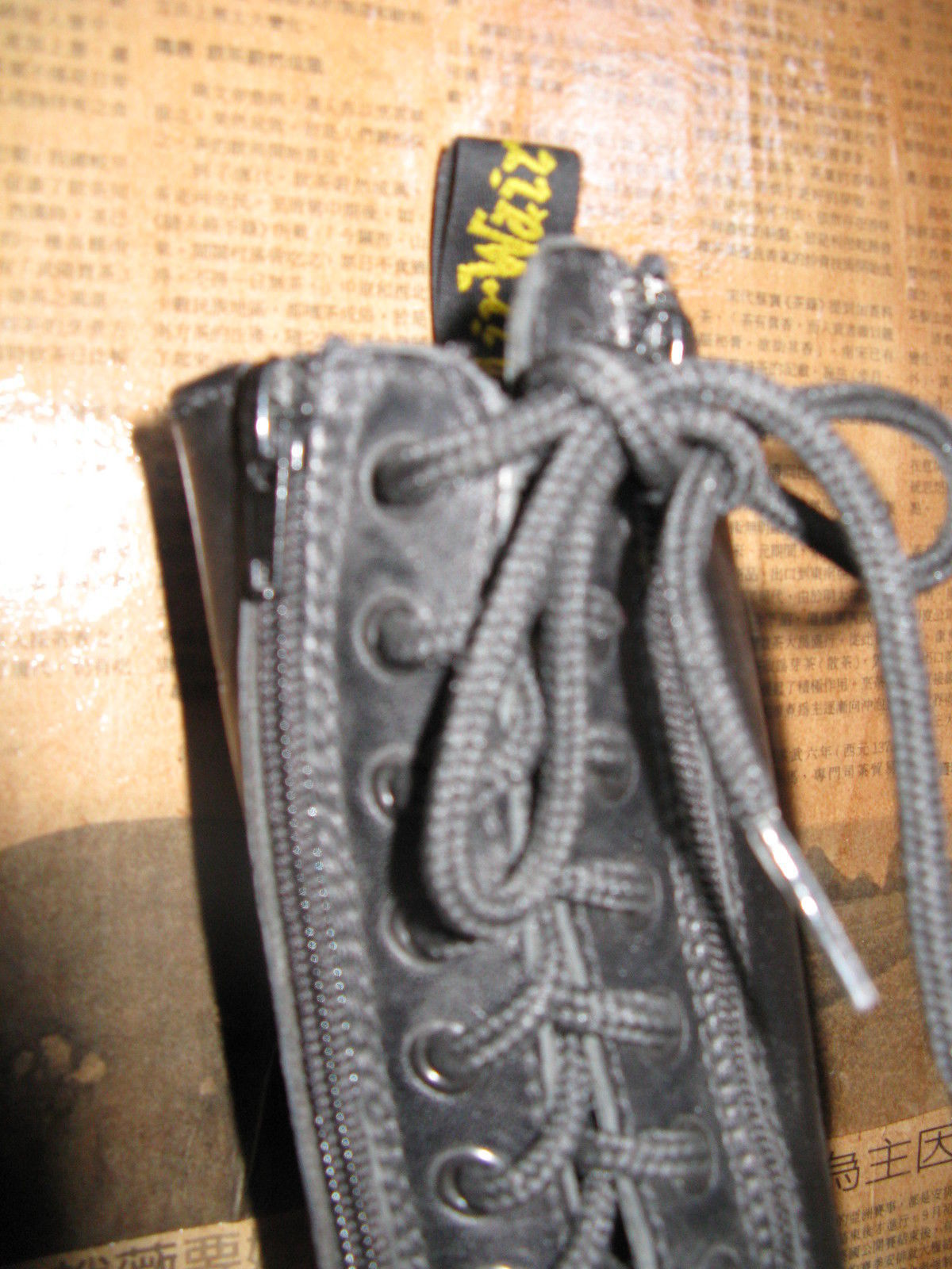 14 eye DOCs Dr Martens speed laces ENGLAND!! butter leather boots 6.5 UK4 36.5