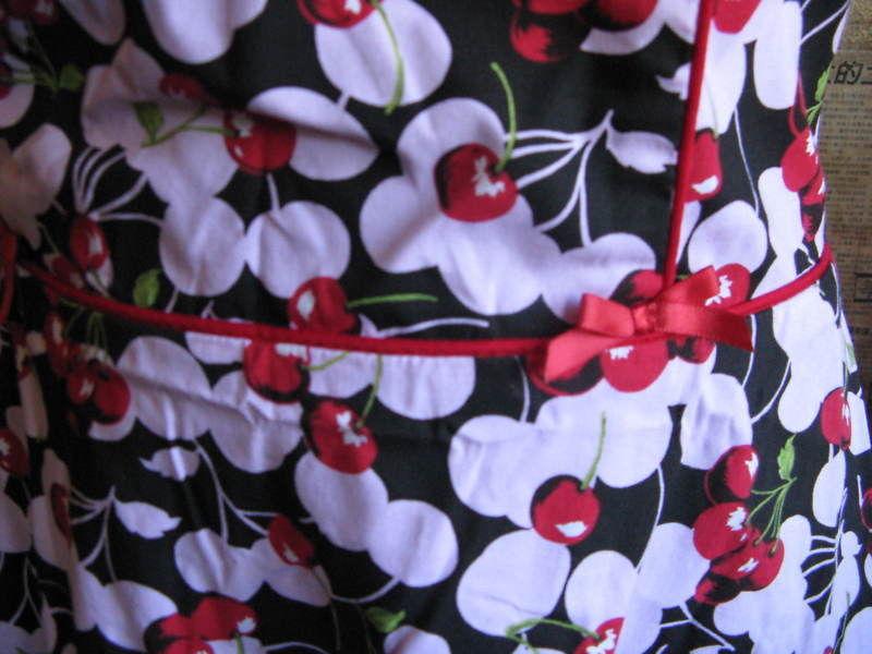 Ruby Rox Pink Cherry Pin-up Rockabilly swing dress 9 VLV image 2