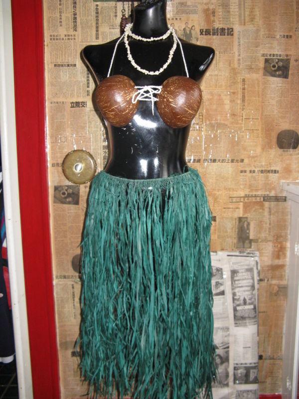 Hula Girl Pin-up burlesque rockabilly photo shoot costume Tiki Oasis VLV