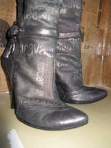 Just Cavalli logo wedge heel silver boots 6 UK3.5 36.5 image 2