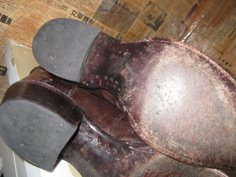 Vintage Justin lizard Cowboy boots 7.5 UK6.5 9 VLV