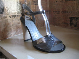 Gucci reptile snake rhinestones crystals bling sandals shoes heels 6.5 UK4 36.5 image 2