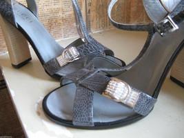 Gucci reptile snake rhinestones crystals bling sandals shoes heels 6.5 UK4 36.5 image 1