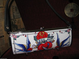 Little Earth Roadflair recycled upcycled tattoo swallow true love handbag VLV image 3