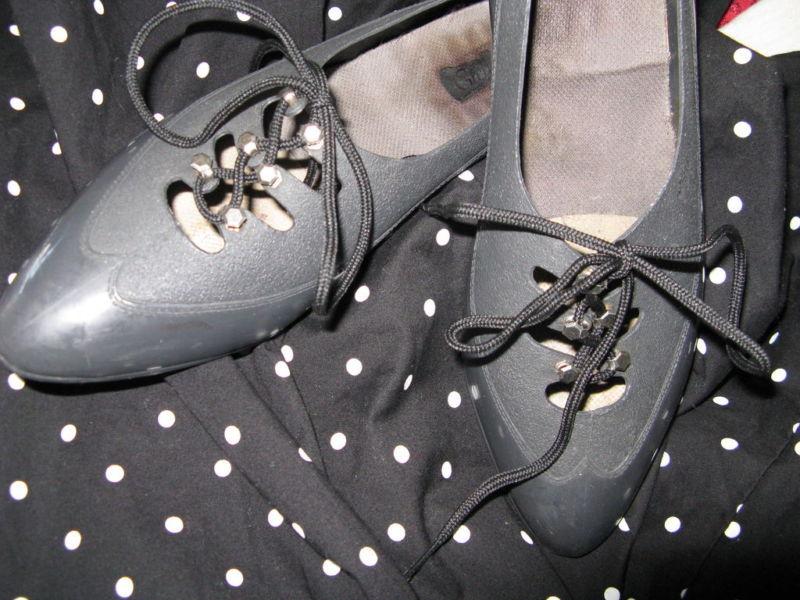 Vintage 80s plastic oxford Grendha Melissa jelly jellies shoes 6 UK3.5 36 image 4