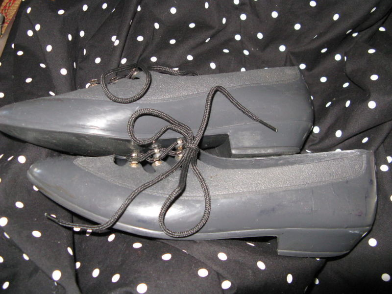 Vintage 80s plastic oxford Grendha Melissa jelly jellies shoes 6 UK3.5 36