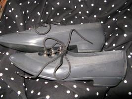 Vintage 80s plastic oxford Grendha Melissa jelly jellies shoes 6 UK3.5 36 image 1