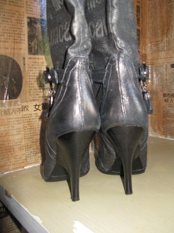 Just Cavalli logo wedge heel silver boots 6 UK3.5 36.5 image 6