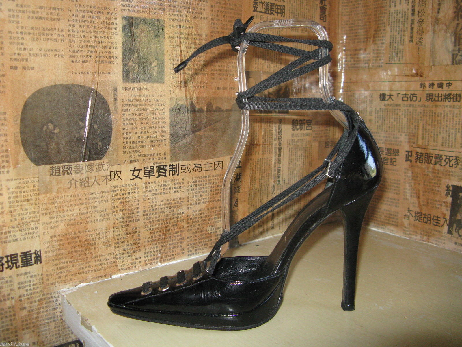 Casadei corset laced bondage stiletto shoes 6.5 UK4 36