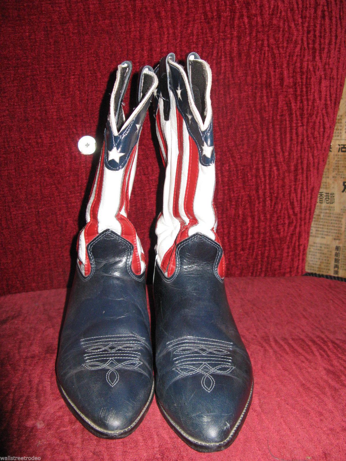 Laredo vintage American Flag stars stripes 4th July cowboy boots 6 36 UK4 5M VLV
