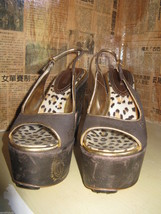Robert Cavalli wedge rockabilly pinup henna tattoo platforms shoes VLV 6 UK3.5 image 2