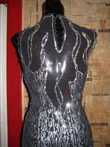 vintage 80s North Beach Leather  leather lace fire flames fringe  dress XS image 8