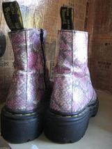 OOAK DOCs Dr Martens Marten snake reptile pink sample boots 6.5 UK4 36.5 England image 1