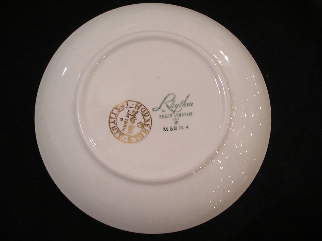 Homer Laughlin Rhythm Rose Bread and Butter Plate