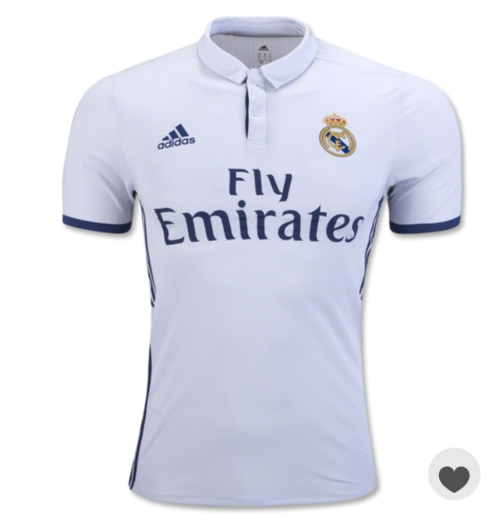 7cc3ad0a4 Nwt Real Madrid Home Fan Jersey Season 16-17 and 50 similar items