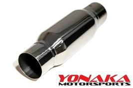 "Yonaka High Flow Straight Through Universal 2.5"" RESONATOR STAINLESS STE... - $58.41"