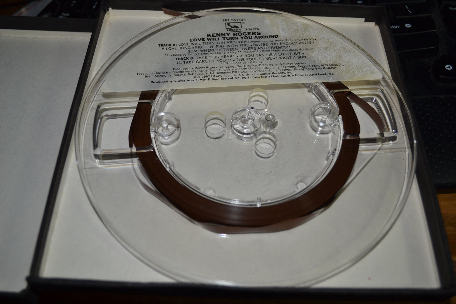 Kenny Rogers Love Will Turn You Around Reel to Reel Tape Very Nice Shape!!! image 2