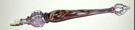 Judaica Yad Torah Murano Glass Handmade Bible Pointer Magen David Multi Color  image 2