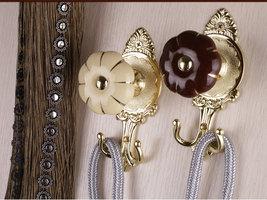 Ceramic Curtain Tie Back Tieback Tiebacks Burgundy Gold Curtains Hooks Pumpkin image 3