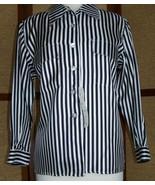 Blouse Long Sleeve Small Silk Black White Silk House - $15.00