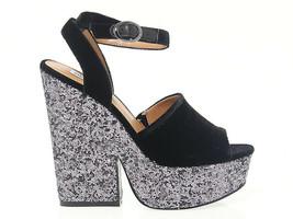 Sandalo con tacco STEVE MADDEN FABIAN in camoscio nero - Scarpe Donna - $86.26