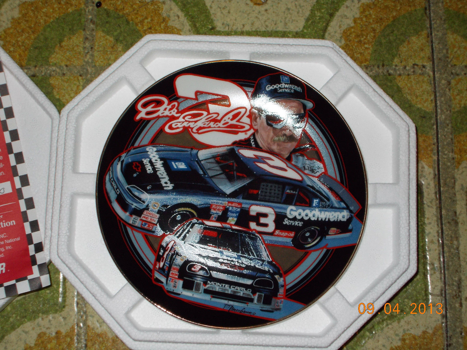 The Hamilton Collection Dale Earnhardt Sr. #3 Nascar Collectors Plate