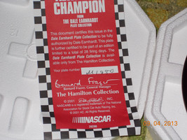 The Hamilton Collection Dale Earnhardt Sr. #3 Nascar Collectors Plate image 3