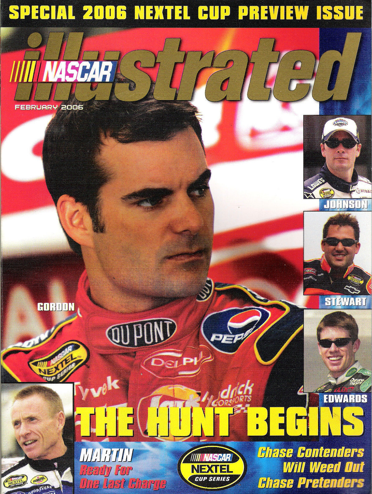 Jeff Gordon Feb 06 Nascar Illustrated Preview Issue The Hunt Begins