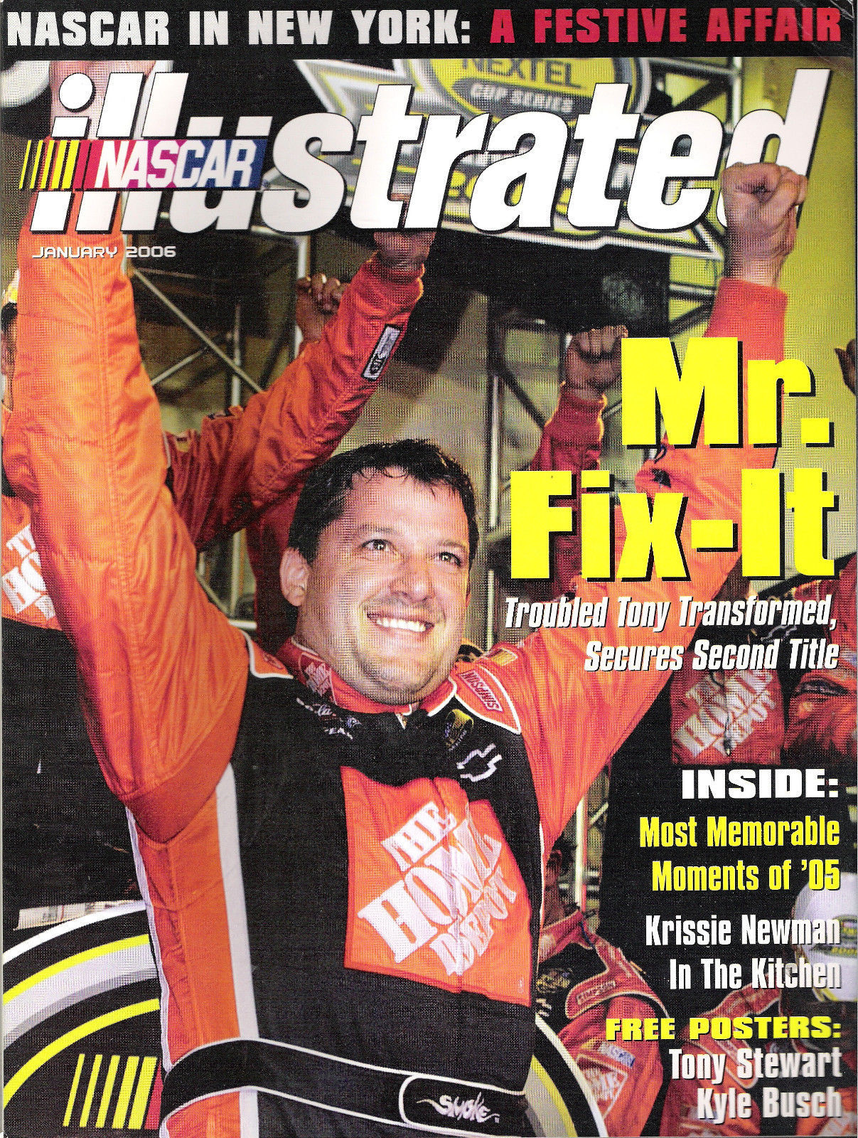 Tony Stewart Jan 06 Nascar Illustrated + Kyle Busch Rookie Of The Year