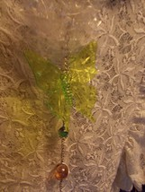 Hanging Butterfly Decoration With Caged Marbles Green Lime Green Lt Topaz Silver image 2