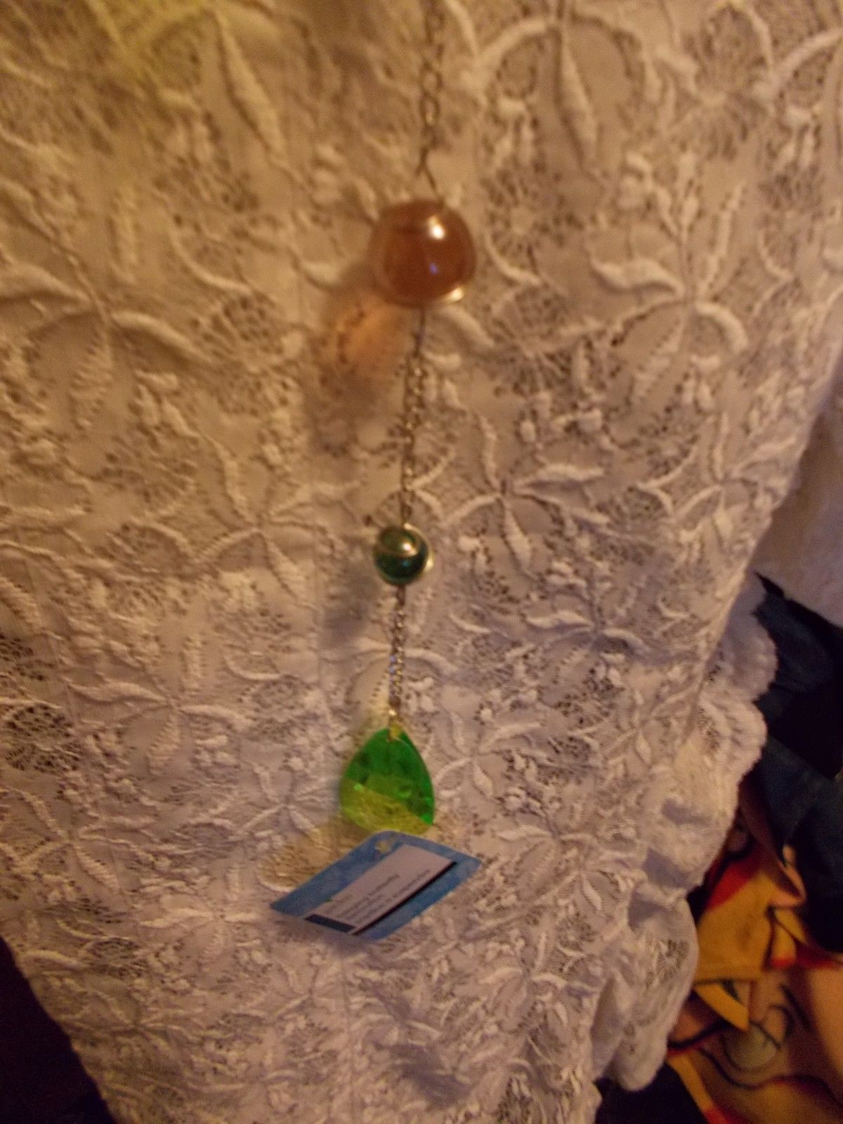 Hanging Butterfly Decoration With Caged Marbles Green Lime Green Lt Topaz Silver image 3