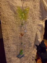 Hanging Butterfly Decoration With Caged Marbles Green Lime Green Lt Topaz Silver image 1