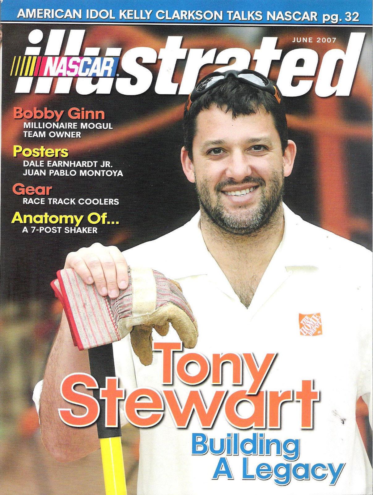 Nascar Illustrated June 2007 Tony Stewart Building A Legacy Montoya Poster