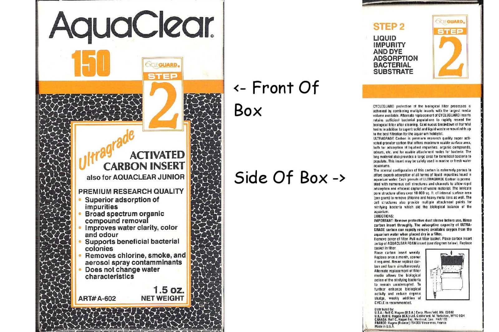 AquaClear 150 Step 2Ultragrade Activated Carbon Insert Also For Aquaclear Junior